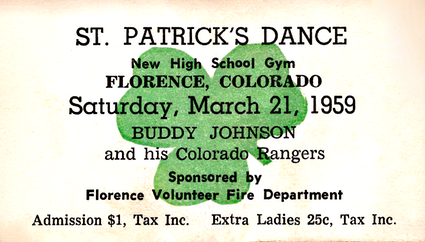 1959 Florence St. Patrick's ticket