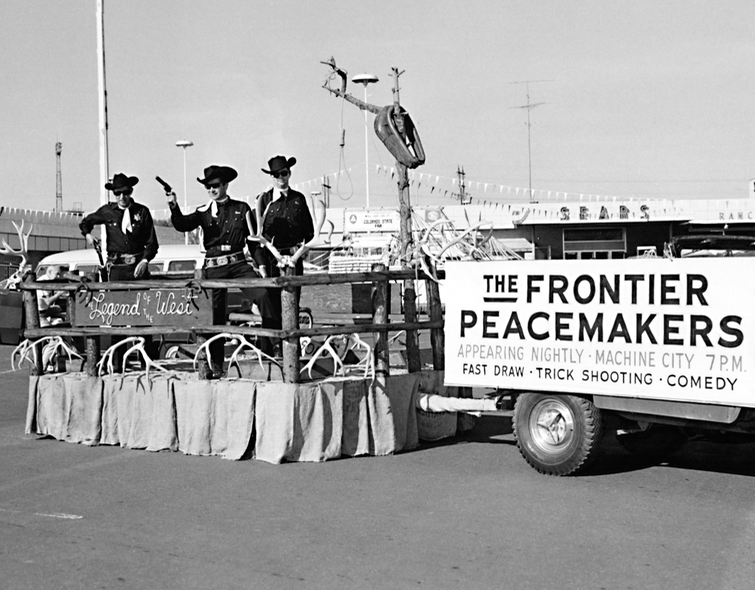 1967 Buddy Frontier Peacemakers float