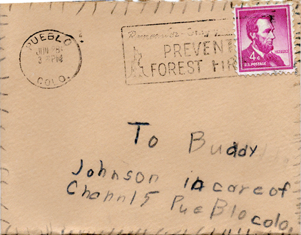 Envelope, child's front
