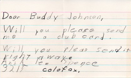 Envelope letter from child
